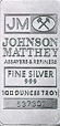 Johnson Matthey Silver Bars